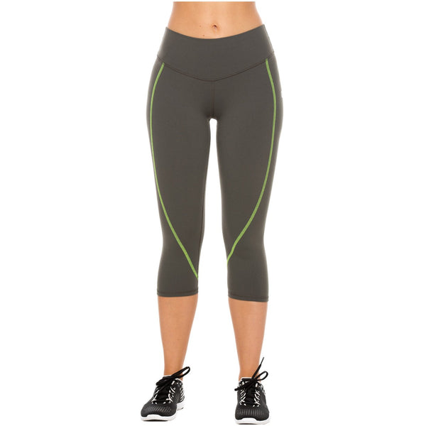 Flexmee 944210 Liberty Capri Polyester Activewear Workout Pants Trousers - Showmee