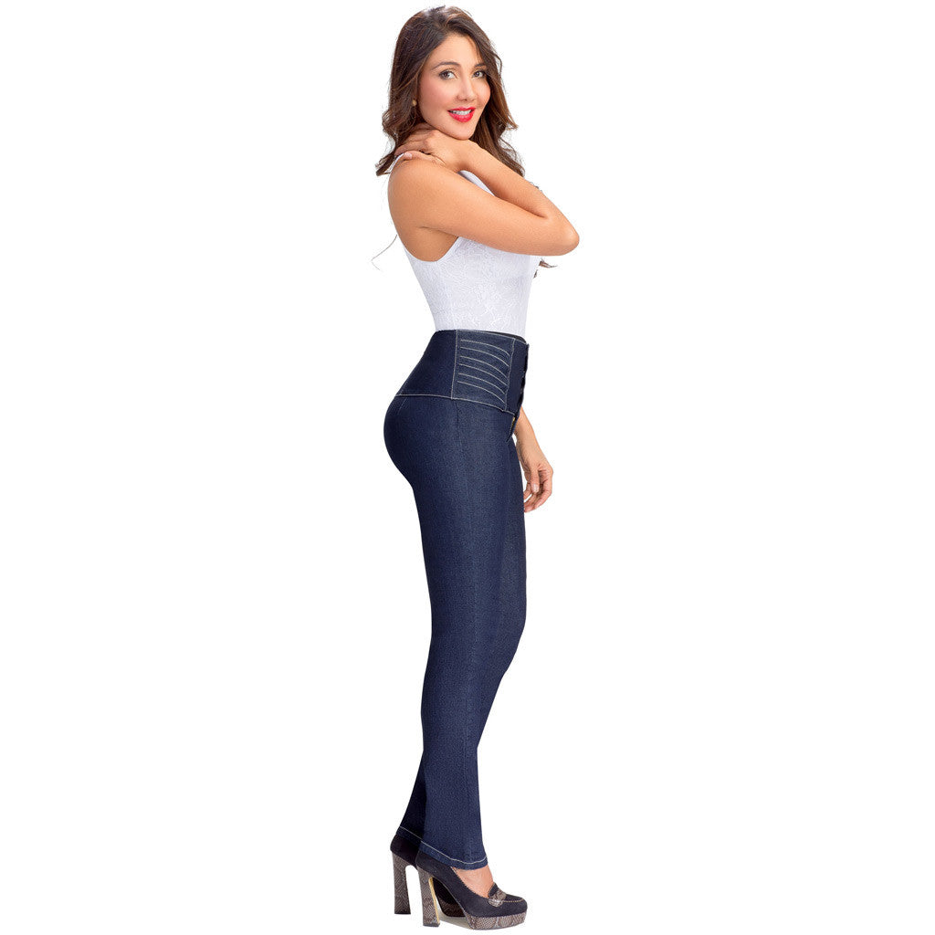 Lowla Wide Waistband Compression Jeans 217205