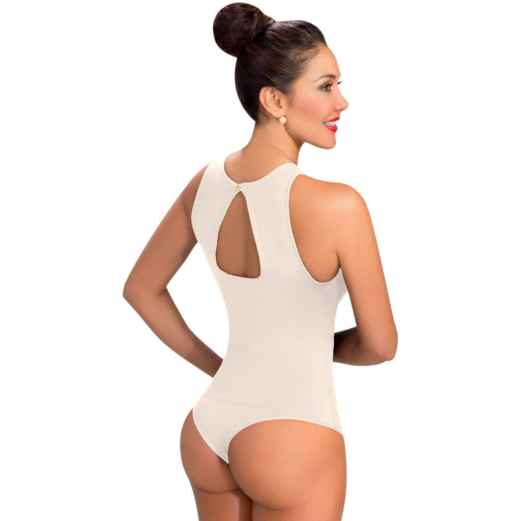 LOWLA: 6121 - Flat Abs Compression Lace Bodysuit - Showmee Store