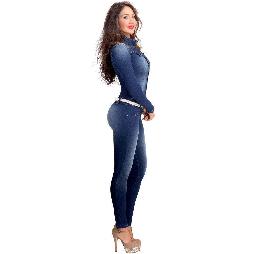 Lowla Blue Jumpsuits for Women with Compression 268217