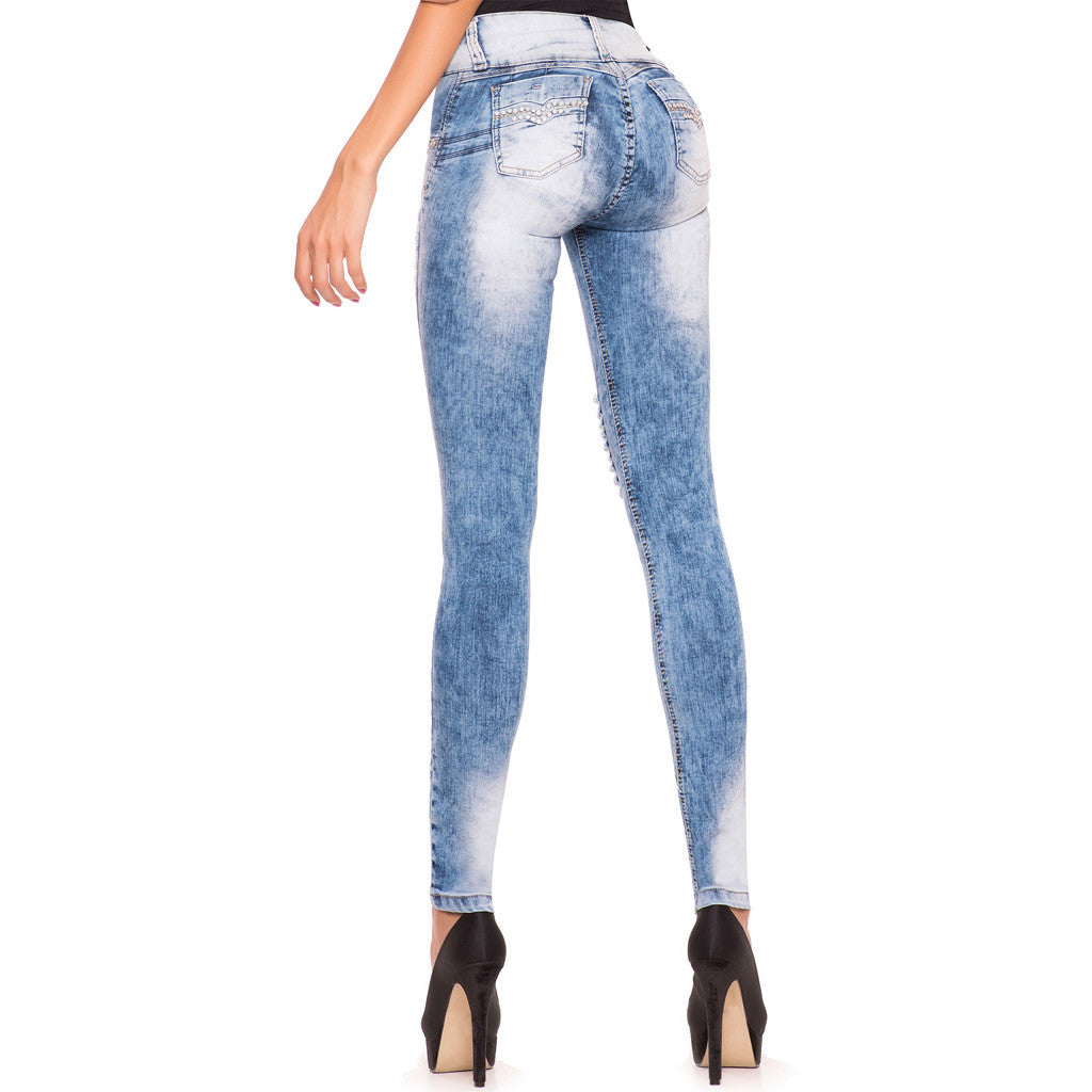 Laty Rose 2007 Denim Butt Lifter Ripped Jeans Levanta Gluteos con Destroyer