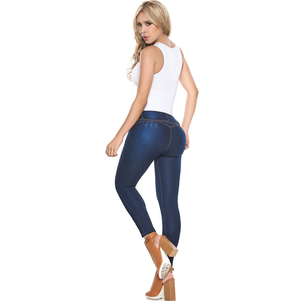 LATY ROSE 2016 JEANS COLOMBIANOS LEVANTA COLA BLUE DENIM BUTT LIFTER JEANS