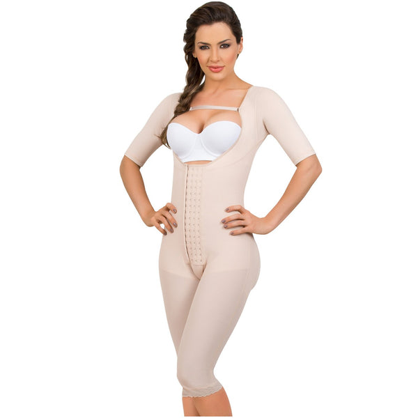 17e7cb48f4 MariaE 9142 Long Sleeves Postoperative Shapewear With Over Bust Strap - Pal  Negocio