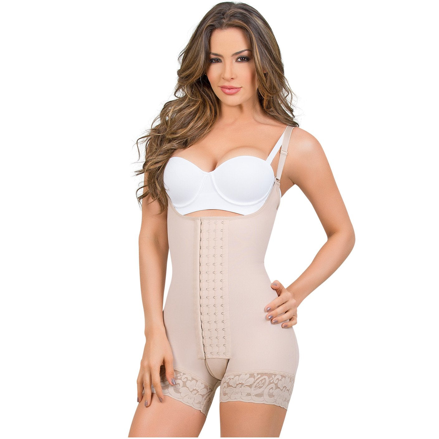 077eb256d97a MARÍAE 9334 Colombian Mid-Thigh Butt Lifter Slimming Shapewear - Showmee