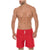 Swim Trunk Plain Red Resorte Completo Summer B