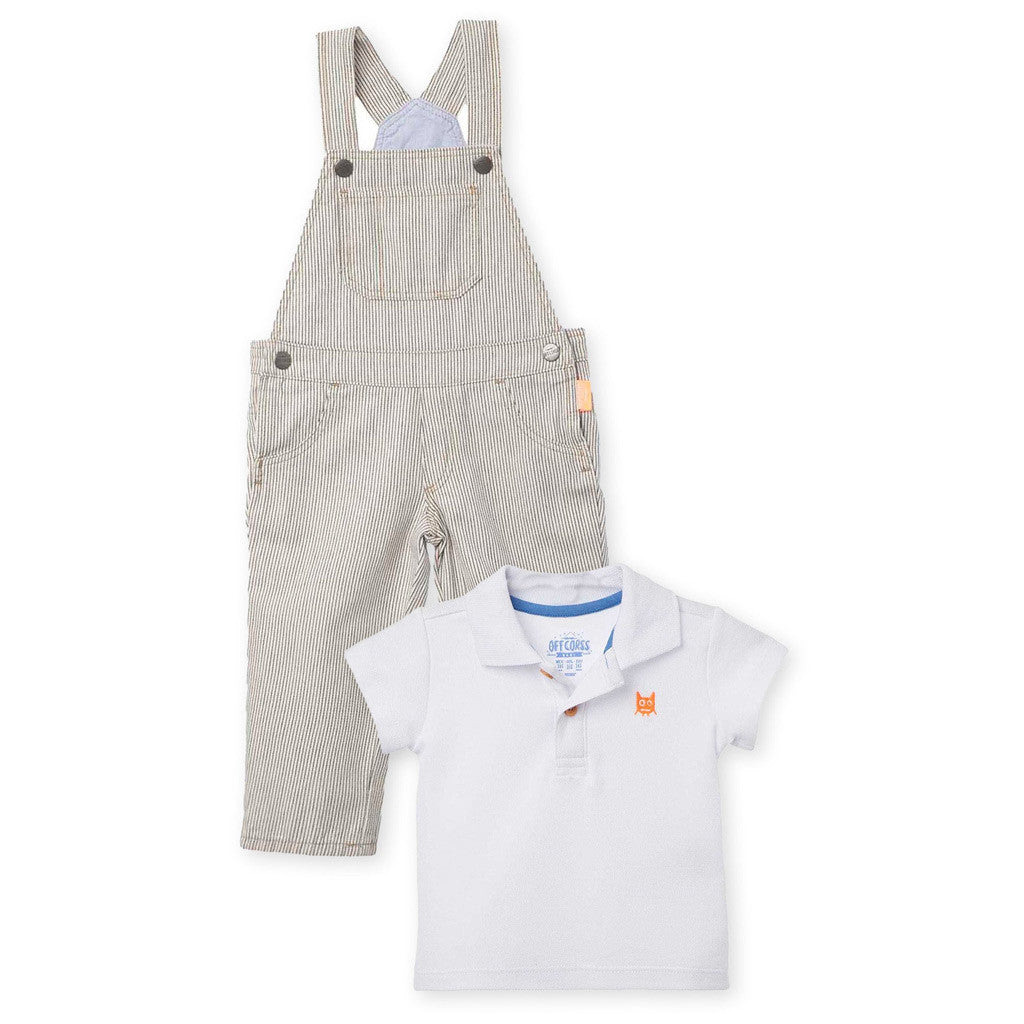 079039532 OFFCORSS Overall Pique Shirt Polo Outfits for Baby Boy Ropa Conjunto B -  Showmee