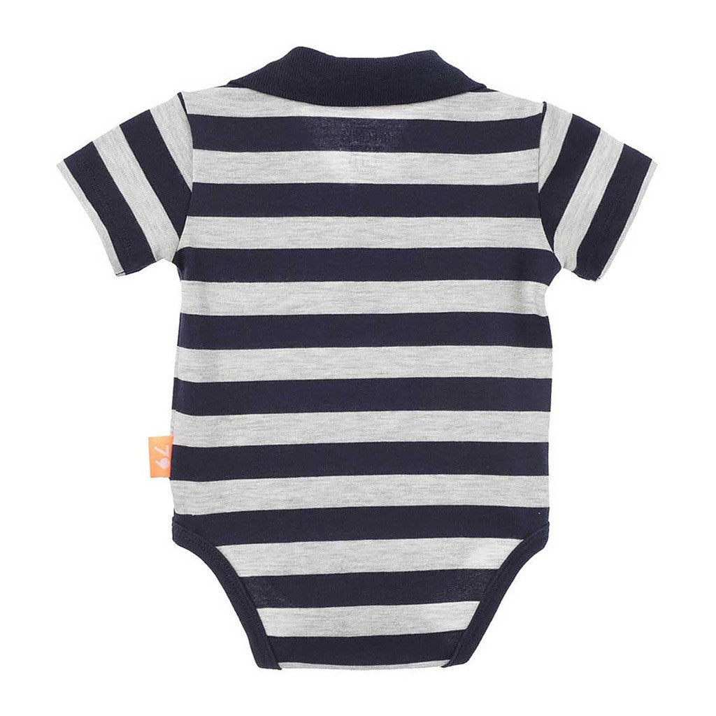 c0ffeb411 OFFCORSS Baby Boy Polo Stripes Onesie Bodysuits Short Sleeve Bodys par -  Showmee