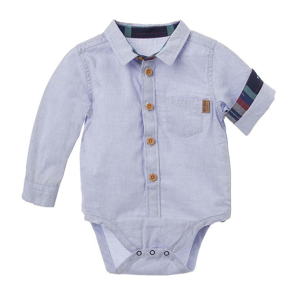 95f54d578 OFFCORSS Baby Boy Long Sleeve Bodysuit Newborn 18 Dress Shirt Onesie Ropa  Bebe