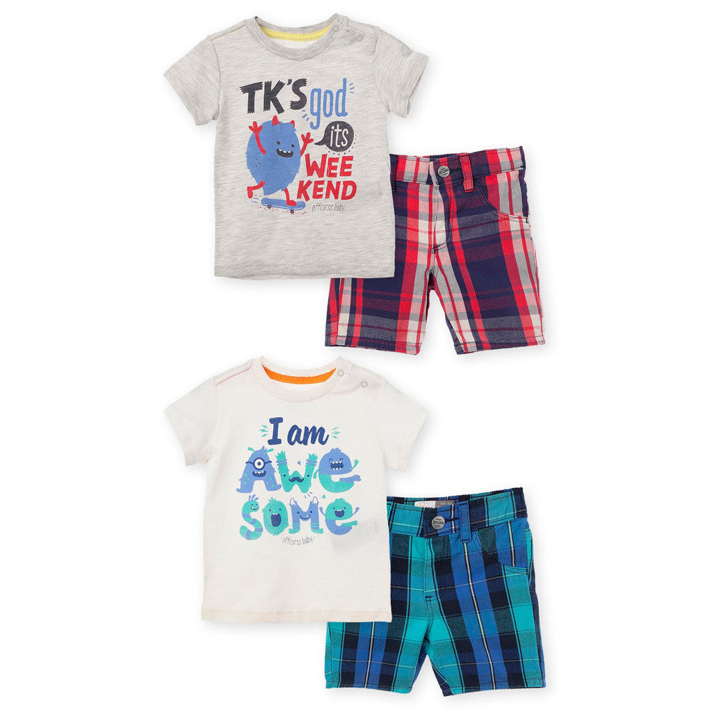 OFFCORSS: T-Shirt and Shorts Set - Showmee Store
