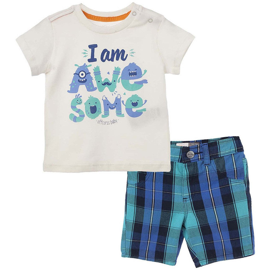 ca4ddff5ef OFFCORSS Baby Boys Outfits Set T Shirt and Shorts Conjuntos Ropa Bebe -  Showmee