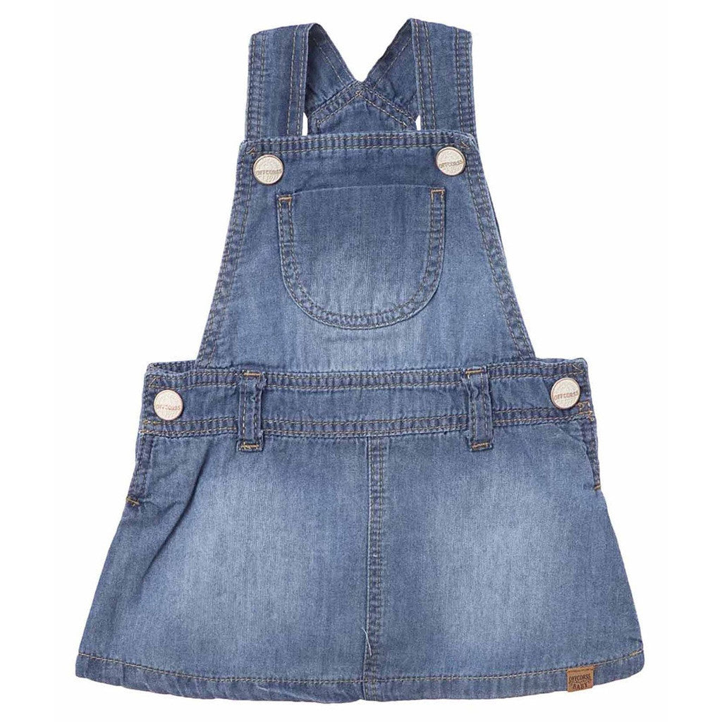 OFFCORSS Denim Overall Dress Skirtall Baby Girl Infant Clothing Ropa Bebe Niña