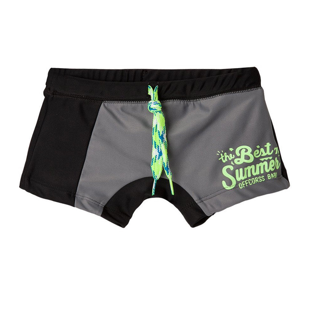 cdcef98225 OFFCORSS Toddler Boy Swim Boxer Shorts Trunks - Showmee