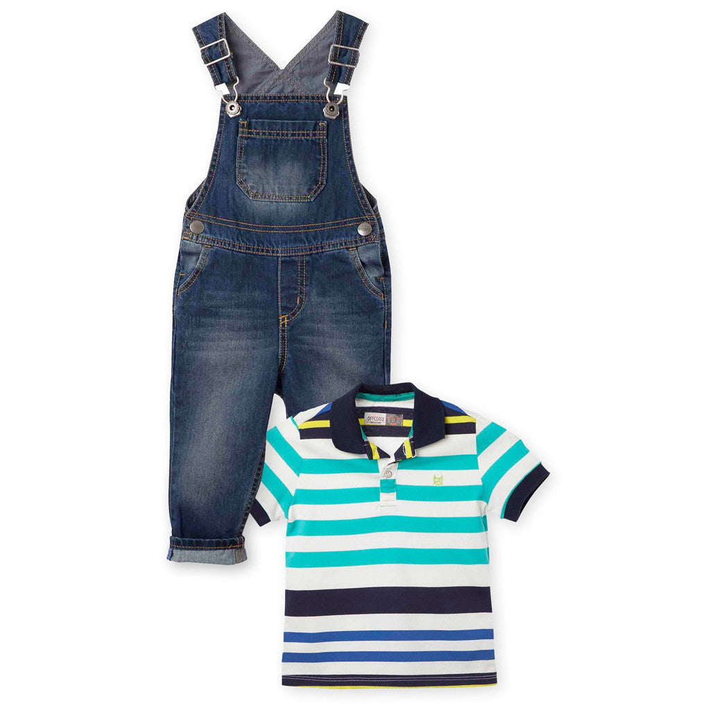 OFFCORSS Baby Toddler Boy Overall Pique Polo Shirt Outfit Conjunto Beb -  Showmee 6d935dbd1