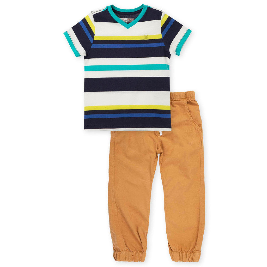 OFFCORSS Baby Toddler Boy Pants and T Shirt Outfit Set Ropa Conjunto Bebe Niño