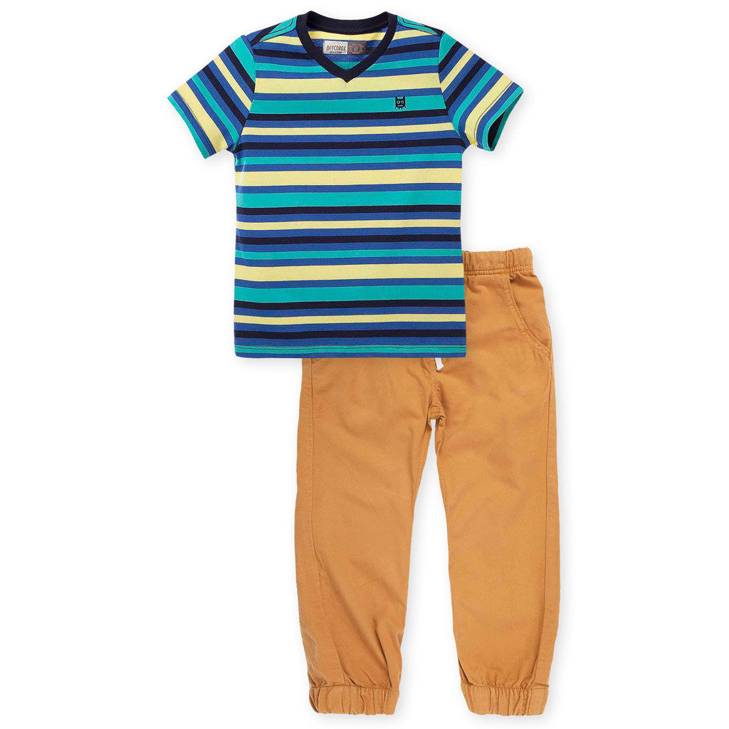 OFFCORSS Baby Toddler Boy Pants and T Shirt Outfit Set Ropa Conjunto Bebe Niño - Showmee Store
