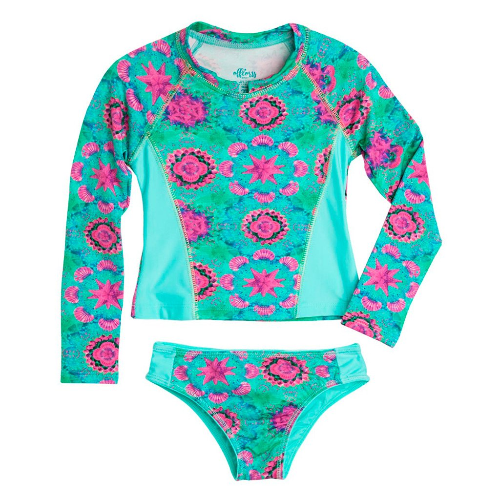 Toddler Girl Rash Guard with Tankini