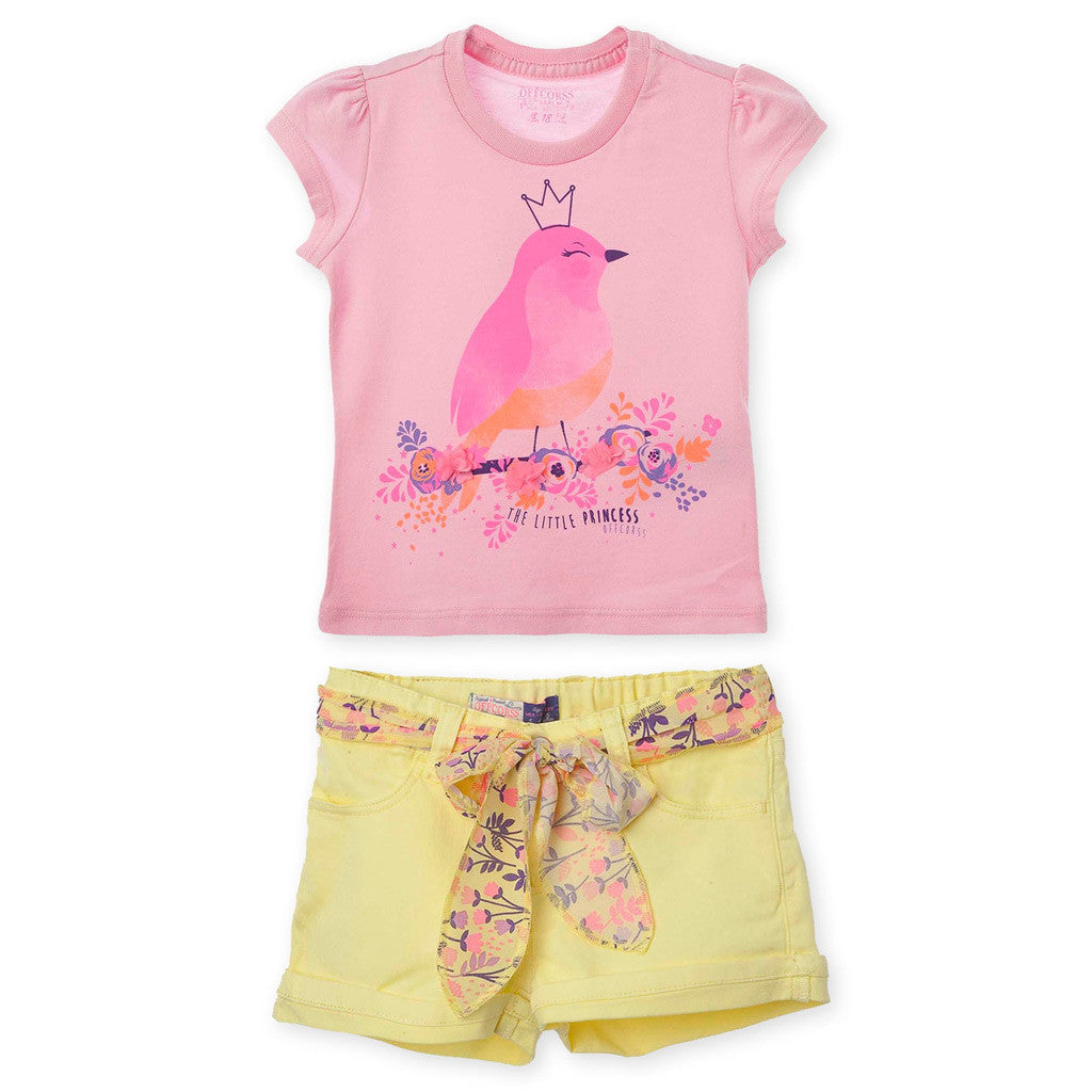 OFFCORSS Toddler Girl Short and T Shirt Set - Showmee Store