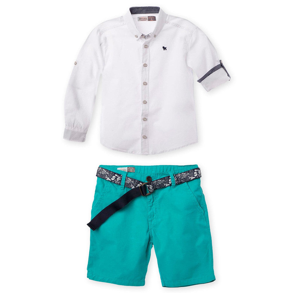 ba964dbe8 OFFCORSS Long Sleeve Shirt Shorts Outfits Big Boys Conjuntos para Niño -  Showmee