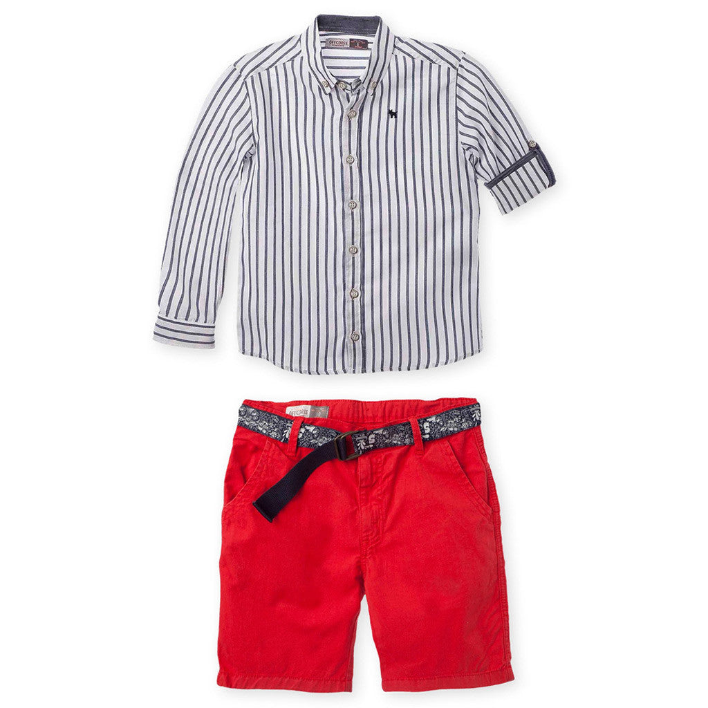 96d03e803 OFFCORSS Long Sleeve Shirt Shorts Outfits Big Boys Conjuntos para Niños  Grandes
