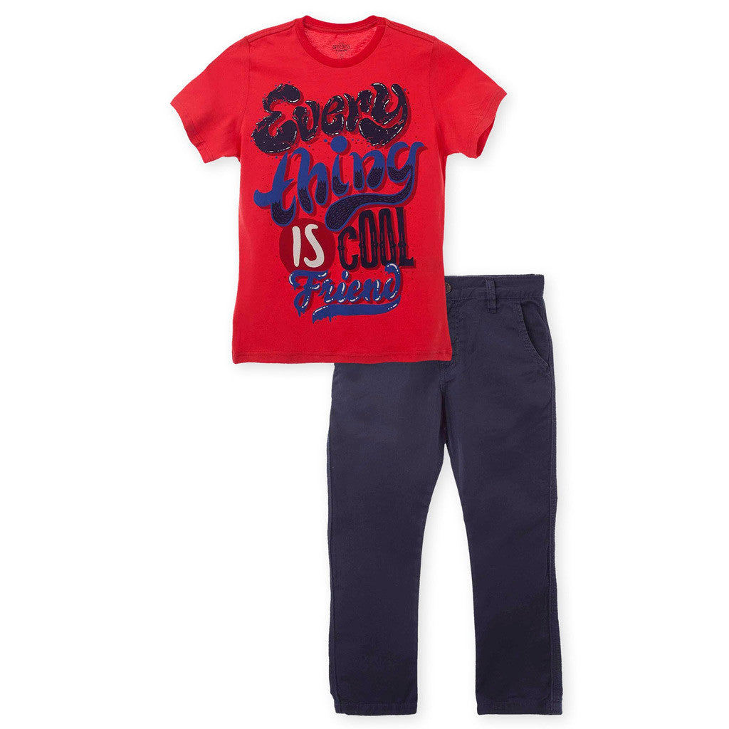 090138e01a OFFCORSS Big Boy T Shirt and Pants Outfit Set Ropa Conjunto de Niños Grandes