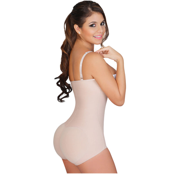 Fajas Colombianas Salome 0414 Women's Body Shaper Levanta Cola y Strapless - Showmee