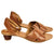 Silvia Cobos ARGELIA Kitten Heel Lace Up Sandals in Brown
