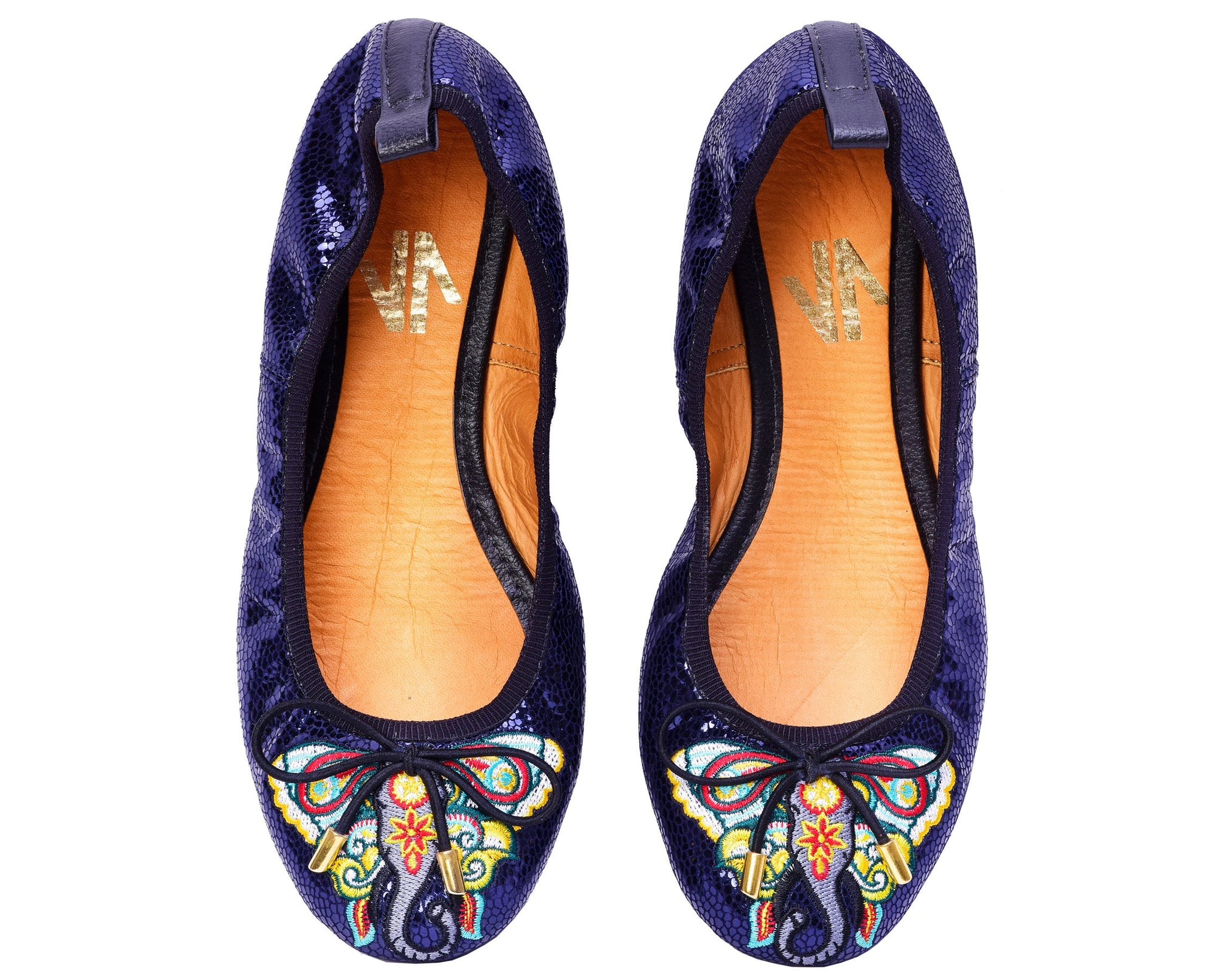 Silvia Cobos LUXURY Embroidered Leather Ballerinas