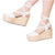 VIDALeather LACE UP High Rise lace up Espadrille Leather Textile combination