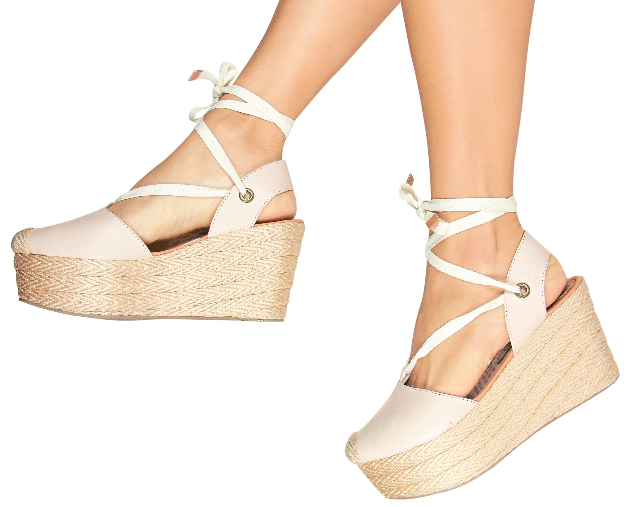 Silvia Cobos LACE UP Leather Wedges