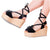 Silvia Cobos POMPOM Espadrille Lace Up Wedge