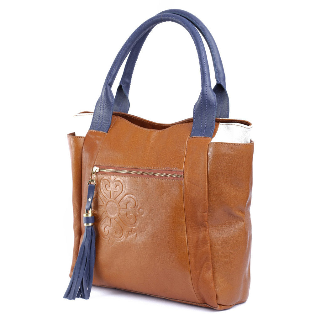 Velez Brown Leather Handbags for Women