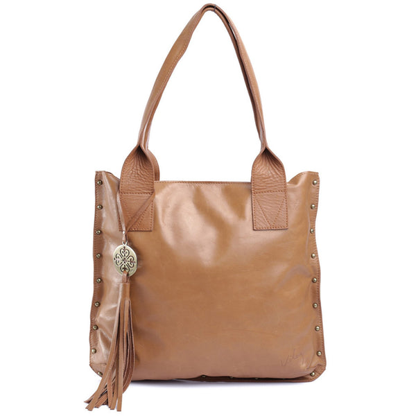 Velez Large Leather Brown Handbags for Women Bolso de Mujer Caf_ Cuero Hecho en Colombia - Showmee