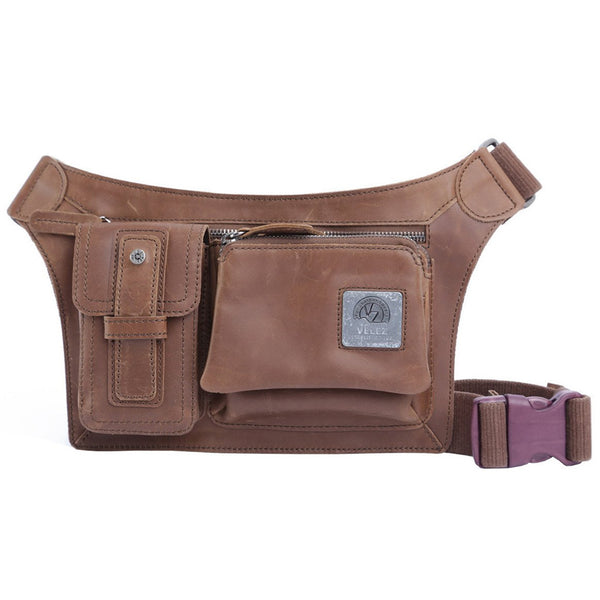 Velez Genuine Leather Fanny Pack for Men Ri‰ۡÌÝÌÕonera en Cuero de Hombre - Showmee