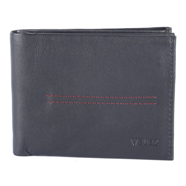 Velez Genuine Full Grain Leather Trifold Wallet for Men Billetera Cuero Hombre - Showmee