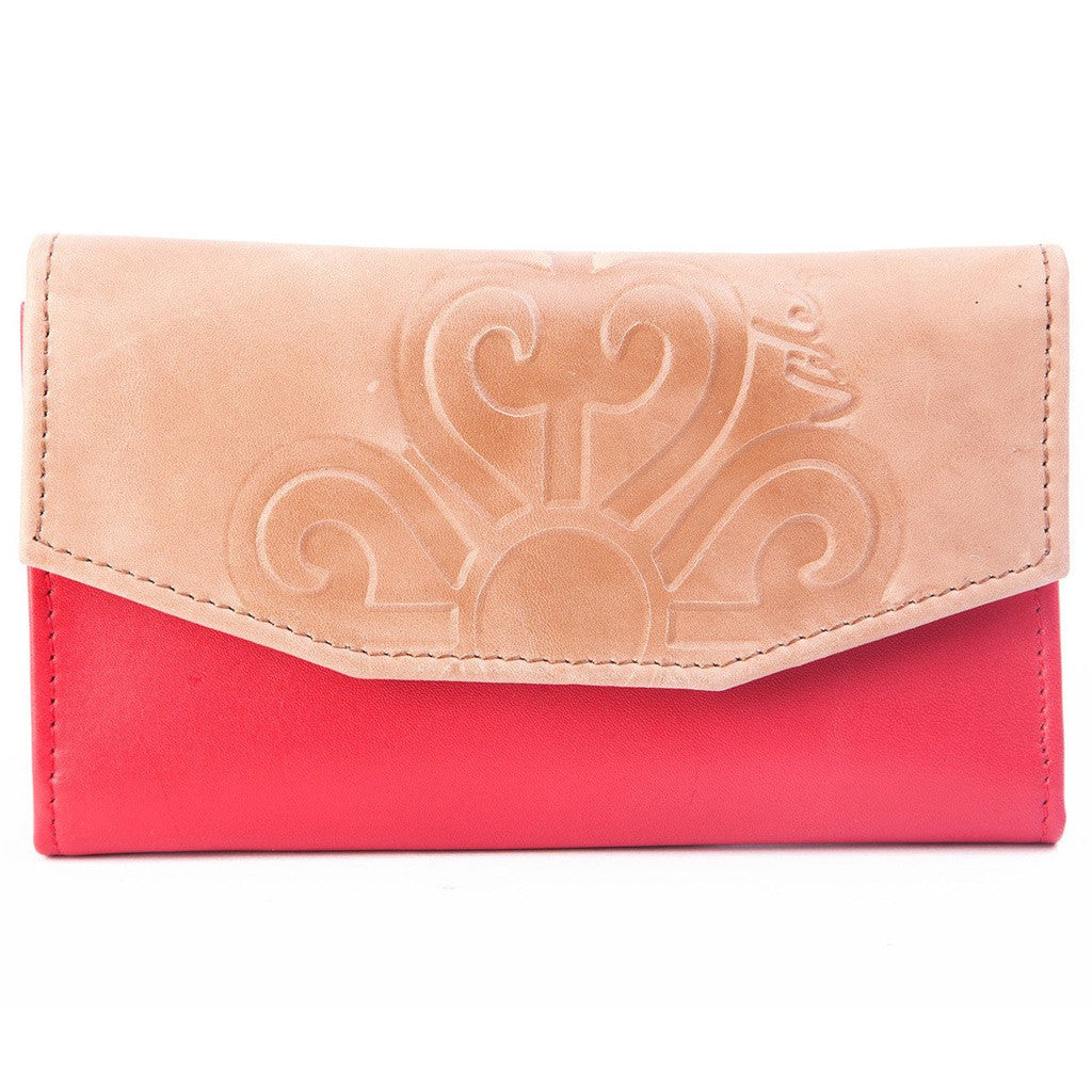 Velez Genuine Full Grain Leather Bifold Wallet for Women Billetera Cuero de Mujer
