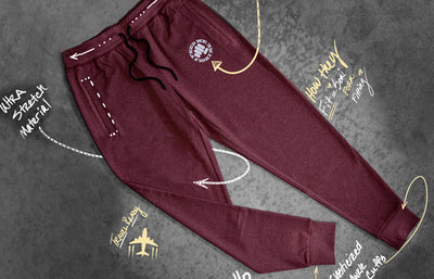 heathered elite joggers