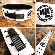 black patriotic stars lifting belt