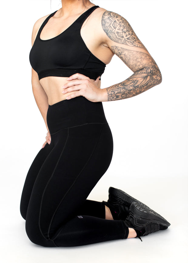 soft black workout leggings with pockets