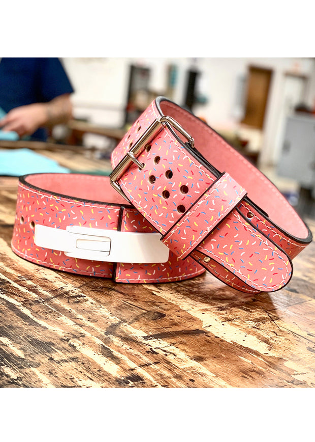 donut sprinkle powerlifting belt