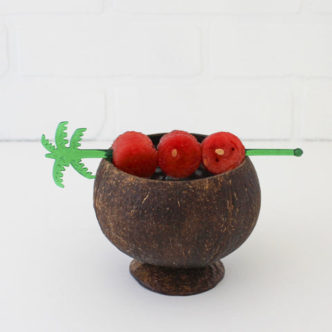 Lacquered Coconut Cup with garnish