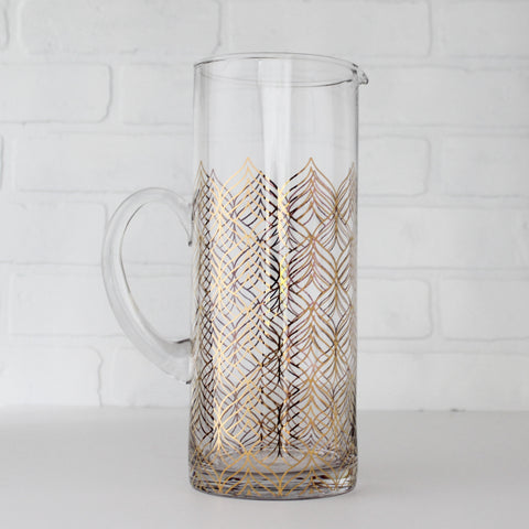 Pitcher with Gold Print
