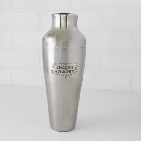 Silver French-Style Cocktail Shaker, 'Shaken, Not Stirred'