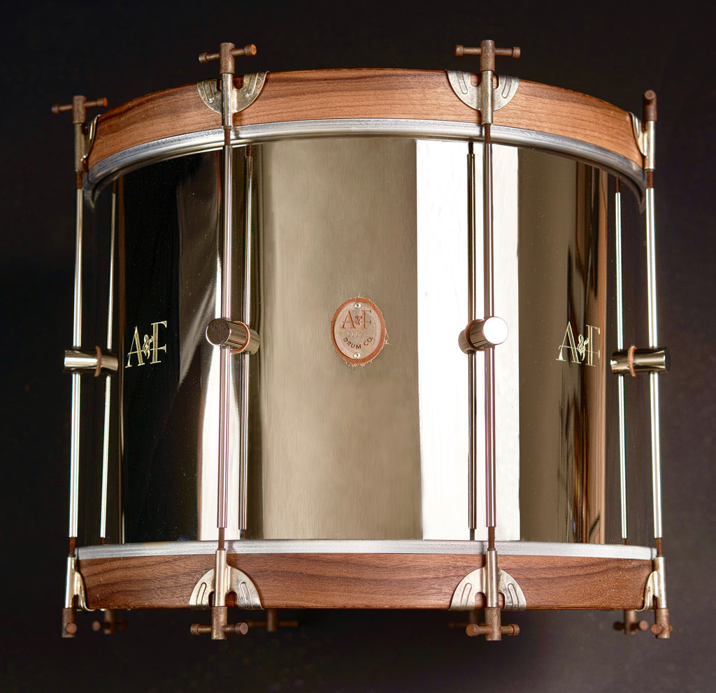 Nickel Over Brass Bass Drum