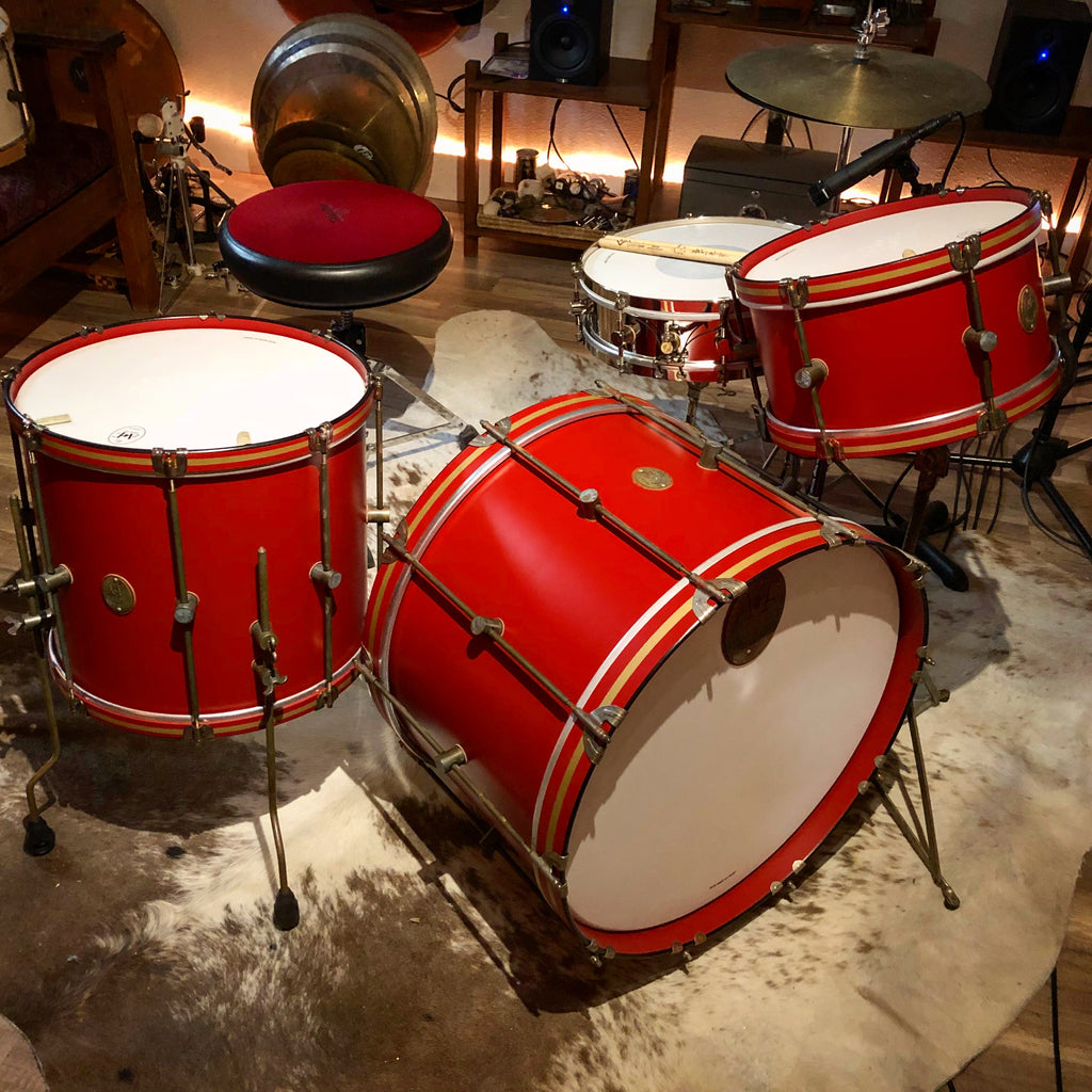 Antique Red Club Bass Drum