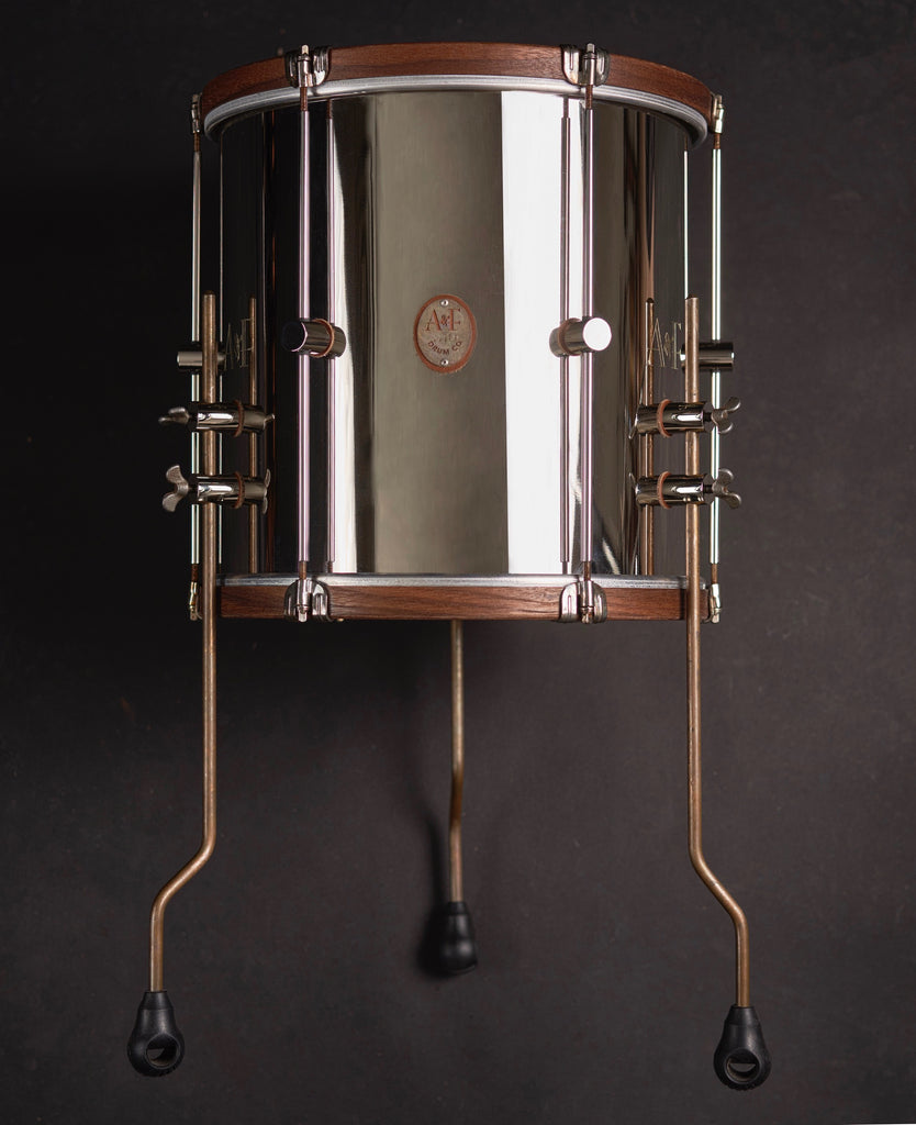 Nickel Over Brass Elite Floor Tom