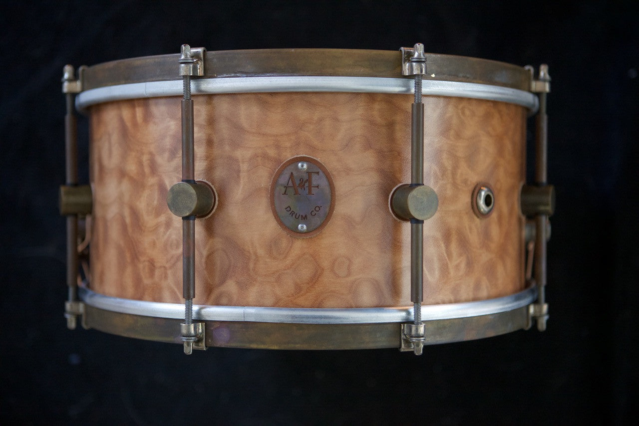 PROTOTYPE-7X14 Steam Bent Solid Quilted Maple Shell Snare