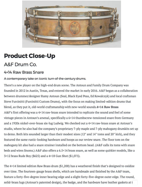 4x14 Limited Edition Snare/SOLD OUT!