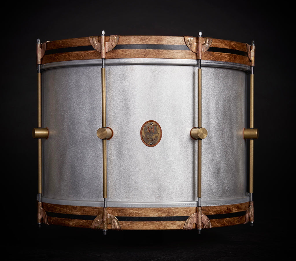 Raw Aluminum Bass Drum