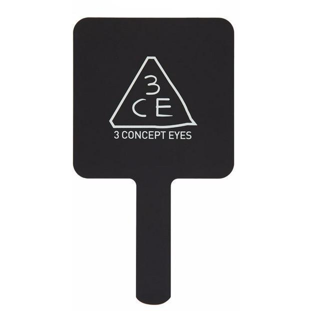 3CE SQUARE HAND MIRROR BLACK