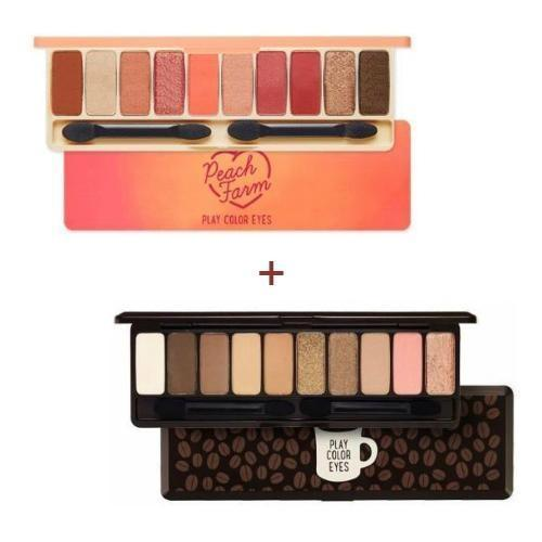 [1+1] ETUDE Play Color Eyes Peach Farm + in the cafe
